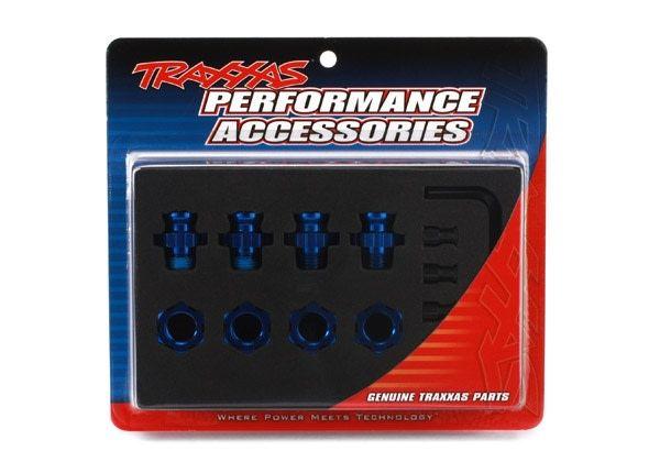Anodised alu 17mm hex adaptors, TRX6856X-1
