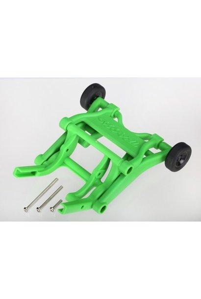 Wheelie bar, assembled (green) (fits Stampede, Rustler, Band, TRX3678A
