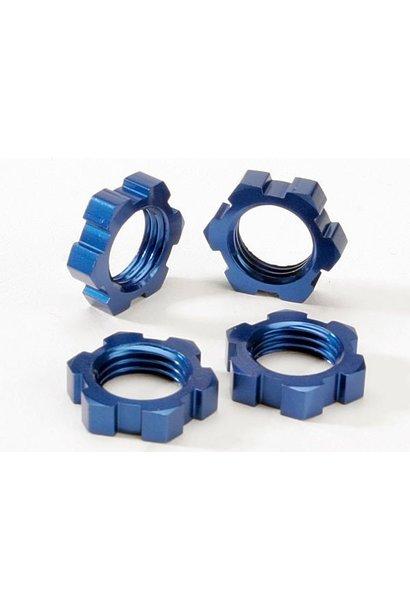 Wheel nuts, splined, 17mm (blue-anodized) (4), TRX5353