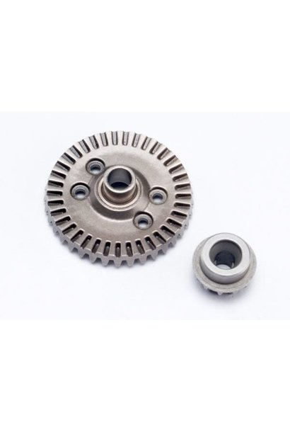 Ring gear, differential/ pinion gear, differential (rear), TRX6879