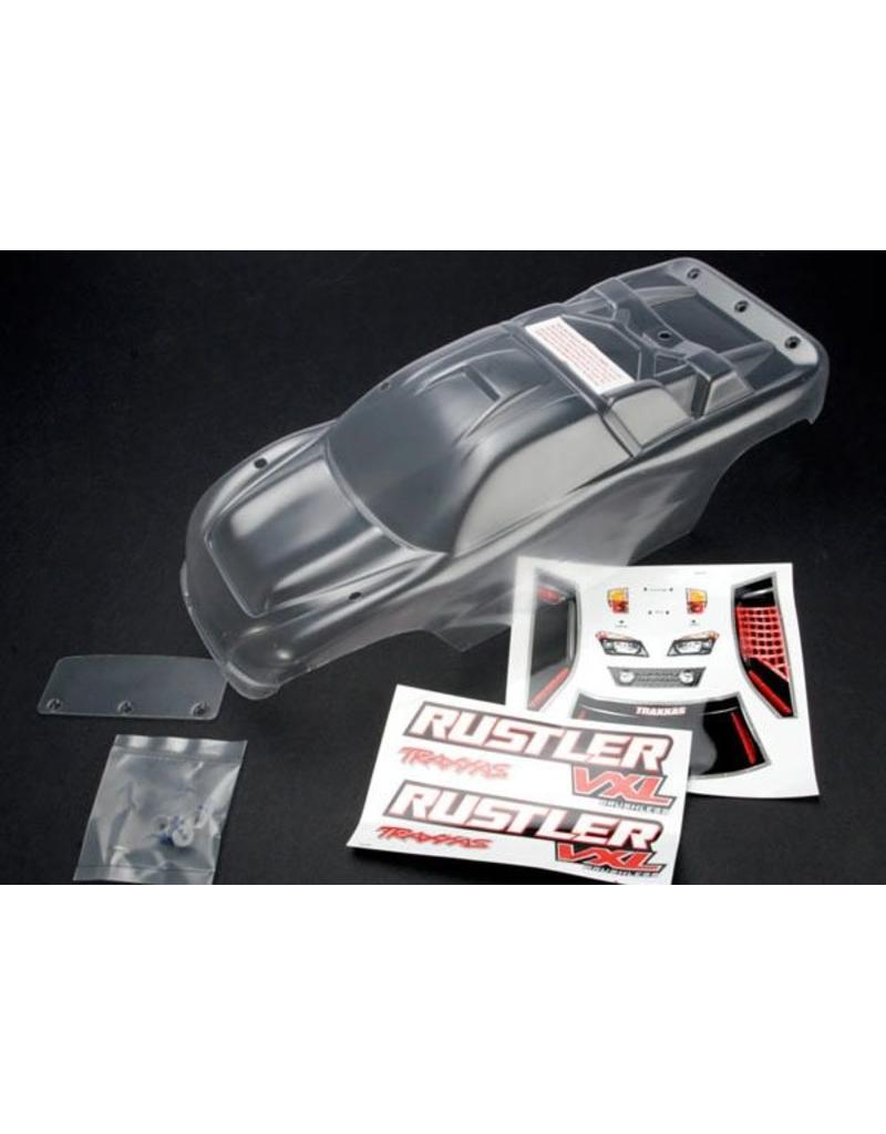 Traxxas Body, Rustler (clear, requires painting)/window, lights deca, TRX3714
