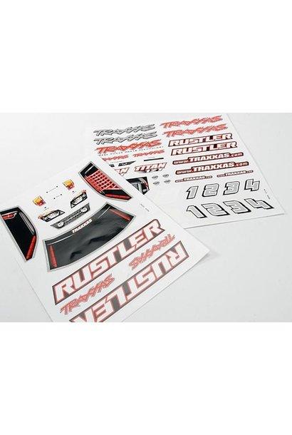 Decal sheets, Rustler, TRX3716