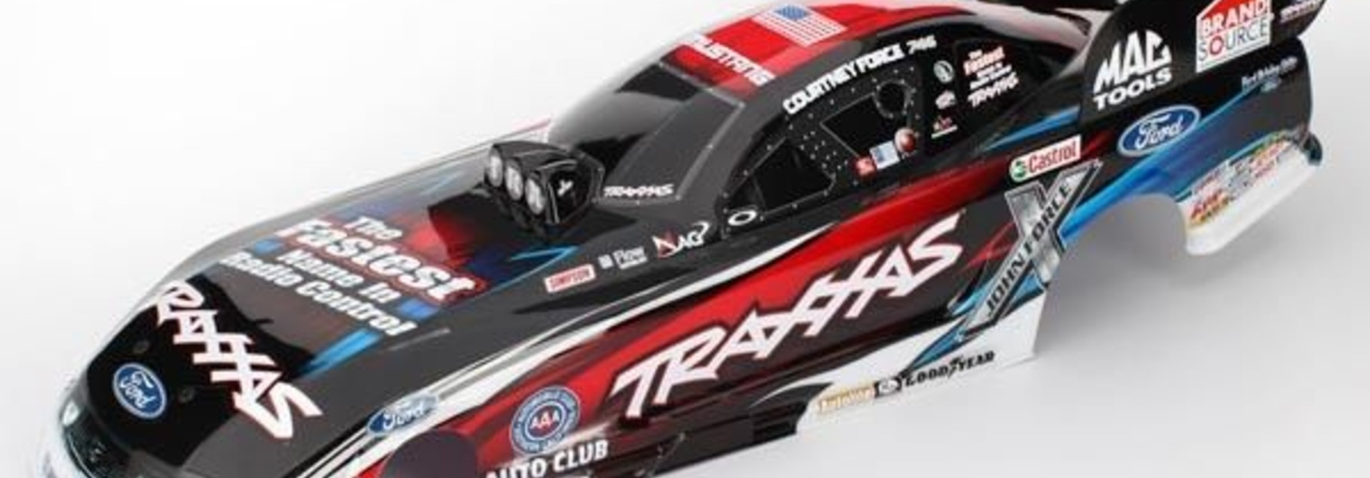 Body, Ford Mustang, Courtney Force (painted, decals applied), TRX6911X