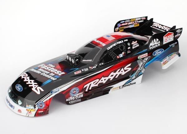 Body, Ford Mustang, Courtney Force (painted, decals applied), TRX6911X-1