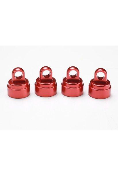 Shock caps Aluminium Red Anodized, TRX3767X