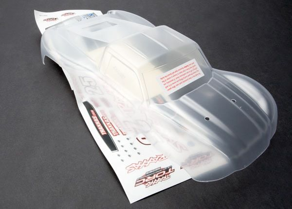 Body, 1/16 Slash (clear, requires painting)/ grill, lights d, TRX7012-1