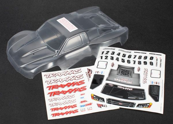 Body, 1/16th Slash (clear, requires painting)/grill, lights, TRX7012R-1