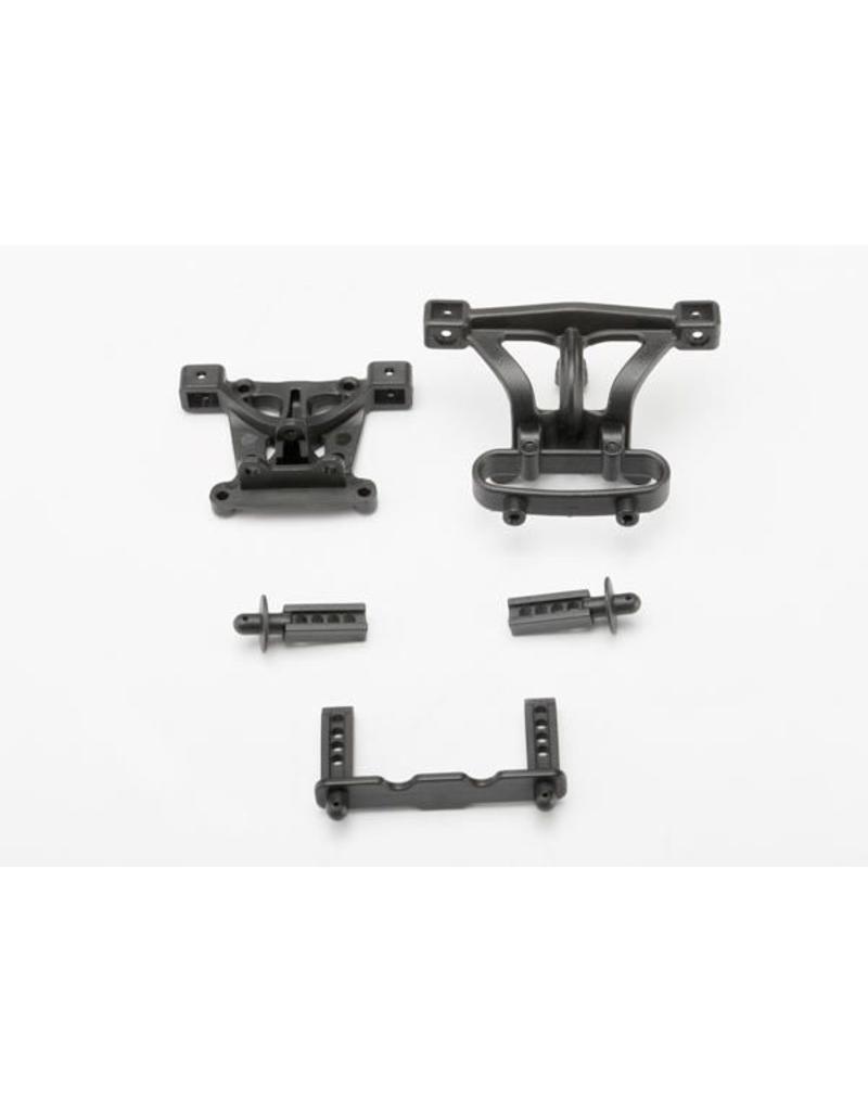 Traxxas Body mounts, front & rear/ body mount posts, front & rear, TRX7015