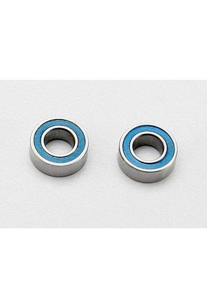 Ball bearings, blue rubber sealed (4x8x3mm) (2), TRX7019