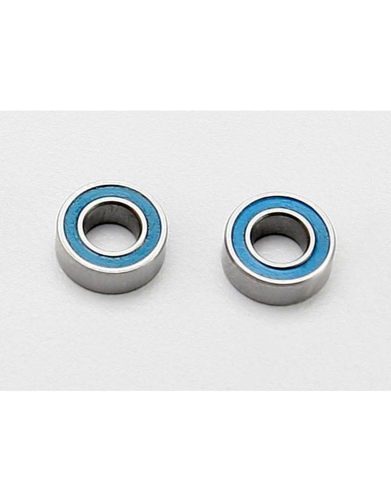 Traxxas Ball bearings, blue rubber sealed (4x8x3mm) (2), TRX7019