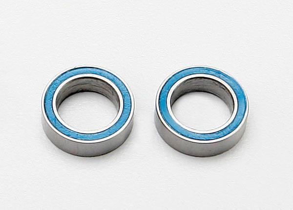 Ball bearings, blue rubber sealed (8x12x3.5mm) (2), TRX7020-1