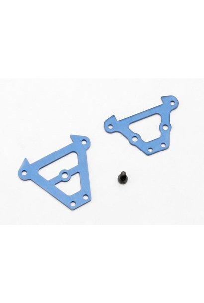 Bulkhead tie bars, front & rear (blue-anodized aluminum)/ 2., TRX7023