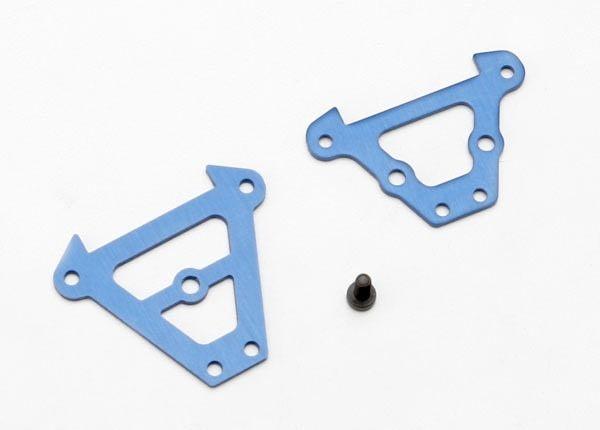 Bulkhead tie bars, front & rear (blue-anodized aluminum)/ 2., TRX7023-1