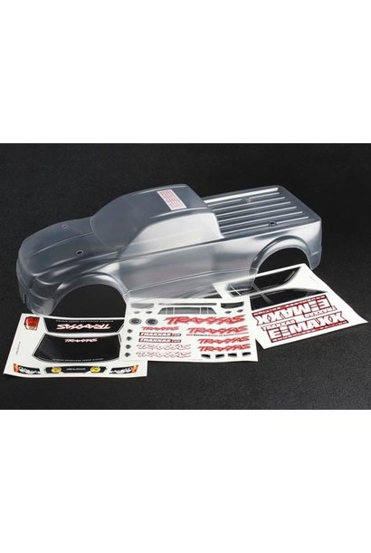 Body, E-Maxx Brushless (clear, requires painting)/ decal she, TRX3915
