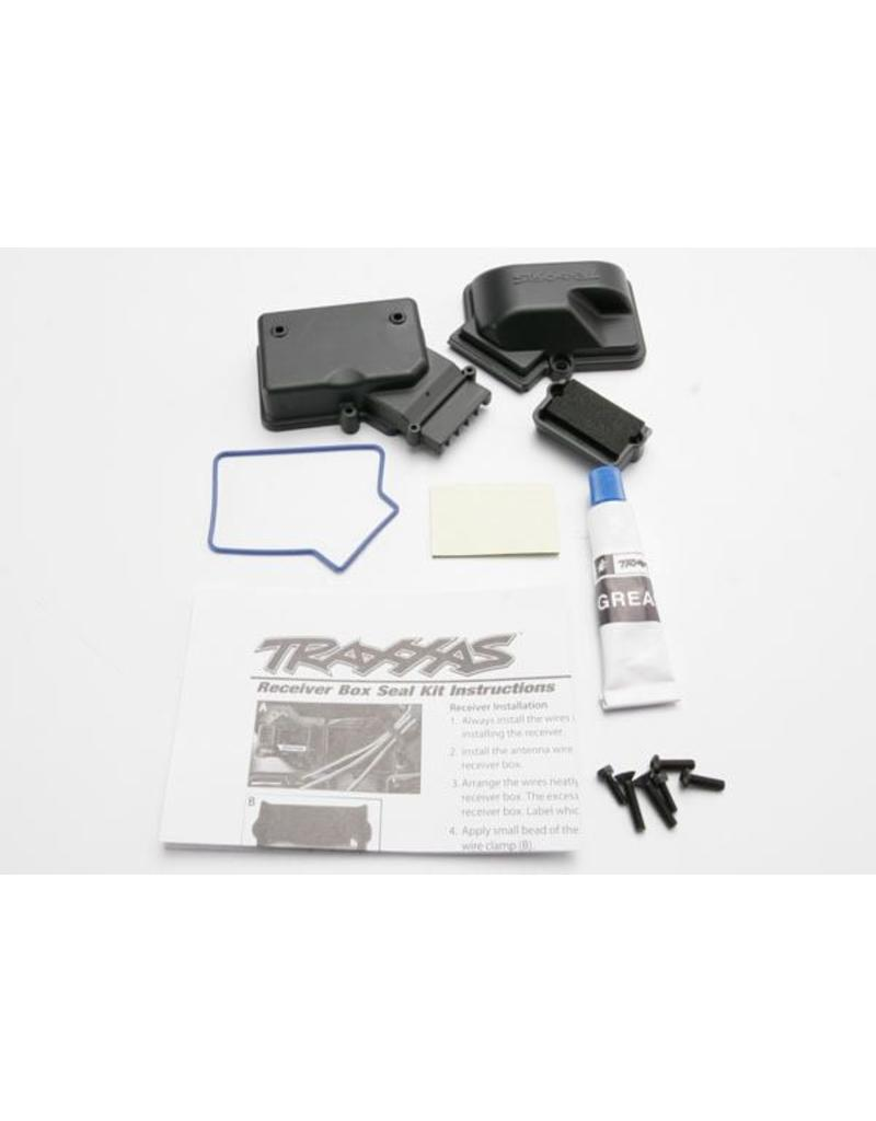 Traxxas Box, receiver (sealed)/ foam pad/ silicone grease/2.5x8mm BC, TRX3924