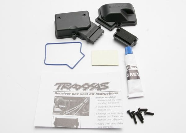 Box, receiver (sealed)/ foam pad/ silicone grease/2.5x8mm BC, TRX3924-1