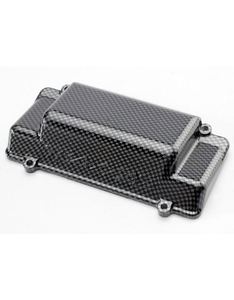 Traxxas Battery Box Cover, bumper (rear), Exo-Carbon finish (Jato), TRX5515G
