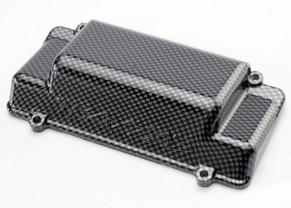 Battery Box Cover, bumper (rear), Exo-Carbon finish (Jato), TRX5515G-1