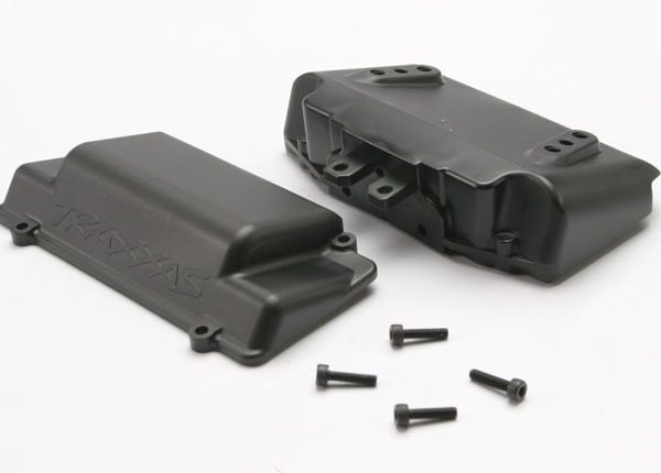 Battery Box, bumper (rear) (includes battery case with bosse, TRX5515X-1