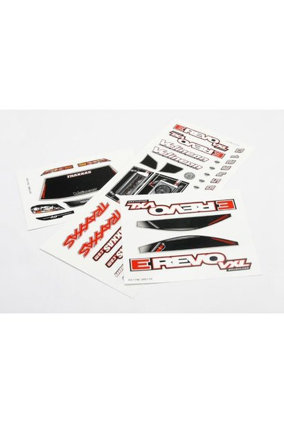 Decal sheets, 1/16 E-Revo VXL, TRX7113