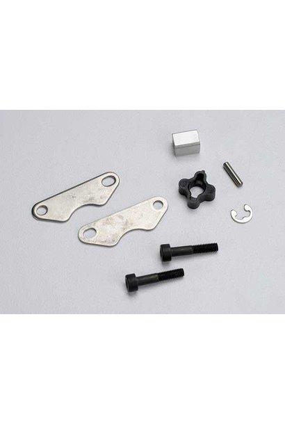 Brake pads (2)/ brake disc hub/ 3X15 CS (partially threaded), TRX5565