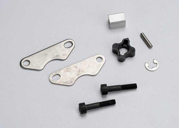 Brake pads (2)/ brake disc hub/ 3X15 CS (partially threaded), TRX5565-1