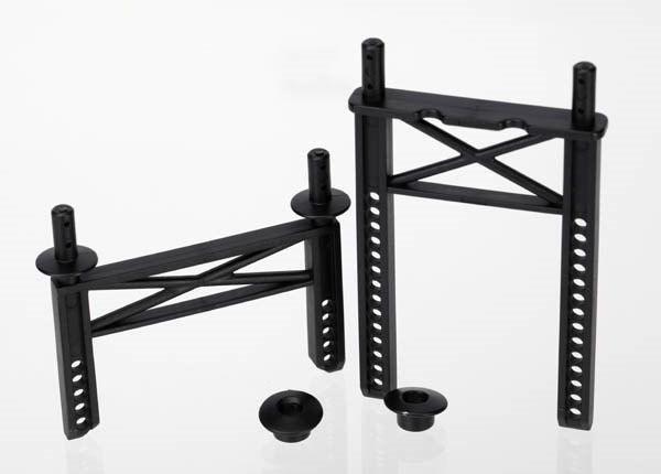 Body mounts, front & rear/ body washer, rear (2) (for 1/16 M, TRX7216-1