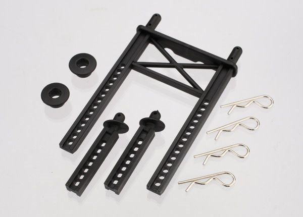 Body mount, rear/ body mount posts, front (2)/body washer, r, TRX7315-1