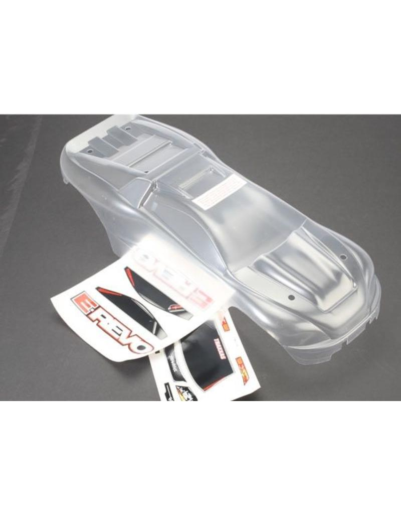 Traxxas Body, E-Revo (clear, requires painting)/window, grill, light, TRX5611
