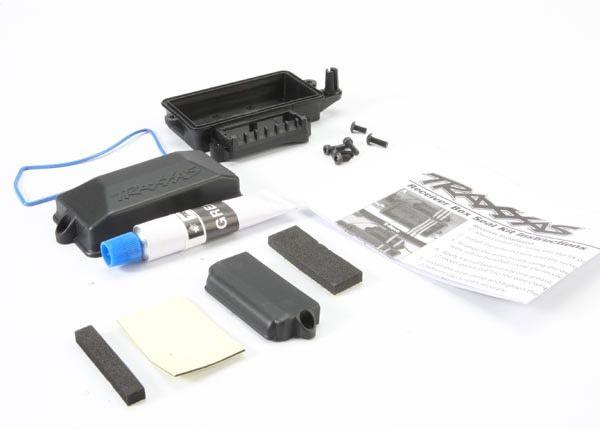 Box, receiver (sealed)/ foam pad/ silicone grease/ 3x8mm BCS, TRX5624-1