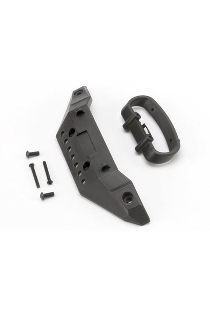 Bumper, front/ bumper mount, front/ 4x10mm BCS (2)/ 3x25mm B, TRX5635