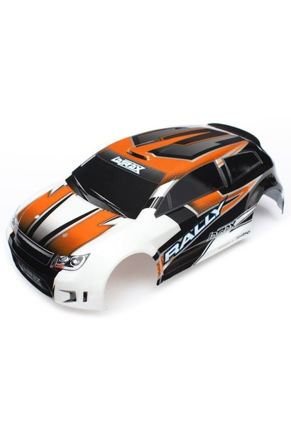 Body, Latrax 1/18 Rally, Orange (Painted)/ Decals, TRX7517