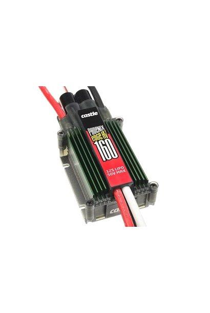 Castle - Phoenix Edge 160 HV - Hoog-vermogen Air-Heli High Voltage Brushless regelaar - Datalogging - Telemetrie mogelijkheid - Aux. kabel - 6-12S - 160A - Opto