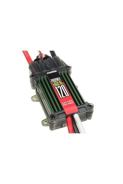Castle - Phoenix Edge 120 HV - Hoog-vermogen Air-Heli High Voltage Brushless regelaar - Datalogging - Telemetrie mogelijkheid - Aux. kabel - 6-12S - 120A - Opto