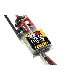 Castle Creations Castle - Phoenix Edge Lite 50 - Hoog-vermogen Air-Heli Brushless regelaar - Lightgewicht versie - Datalogging - Telemetrie mogelijkheid - Aux. kabel - 2-8S - 50A - 5A SBec
