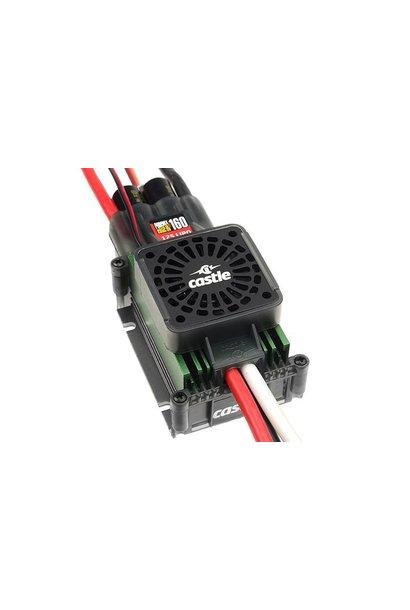 Castle - Phoenix Edge 160 HV-F - Hoog-vermogen Air-Heli High Voltage Brushless regelaar - Cooling Fan - Datalogging - Telemetrie mogelijkheid - Aux. kabel - 6-12S - 160A - Opto