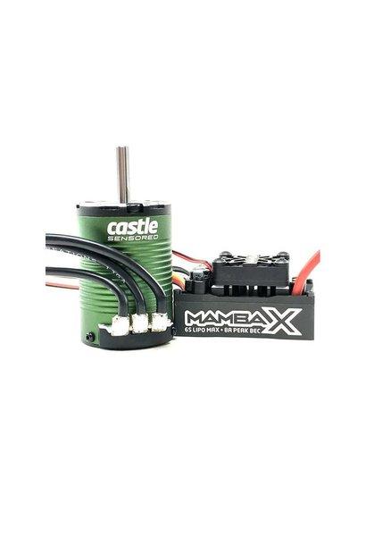 Castle - Mamba X SCT - Combo - 1-10 Extreem SCT regelaar met 1410-3800 5mm motoras Sensored Motor