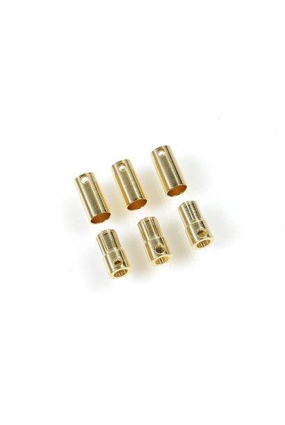Castle - Bullet stekkers 6.5mm - 3 st. Mannelijk + 3 st. Vrouwelijk