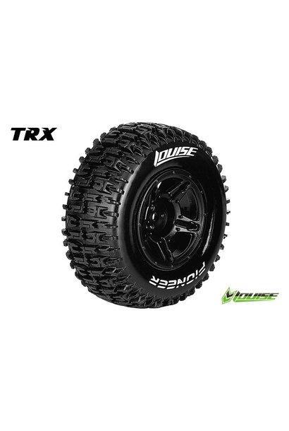 Louise RC - SC-PIONEER - 1-10 Short Course Tire Set - Mounted - Soft - Black Rims - Hex 12mm - SLASH 2WD Rear - SLASH 4X4 F/R - L-T3148SBTR