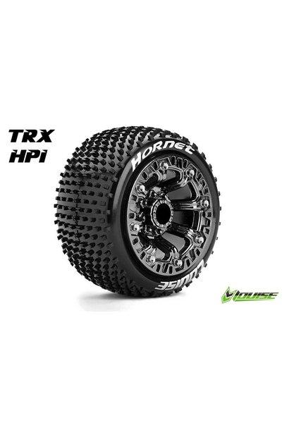 Louise RC - ST-HORNET - 1-16 Truck Tire Set - Mounted - Sport - Black Chrome 2.2 Rims - Hex 12mm - L-T3172SBC