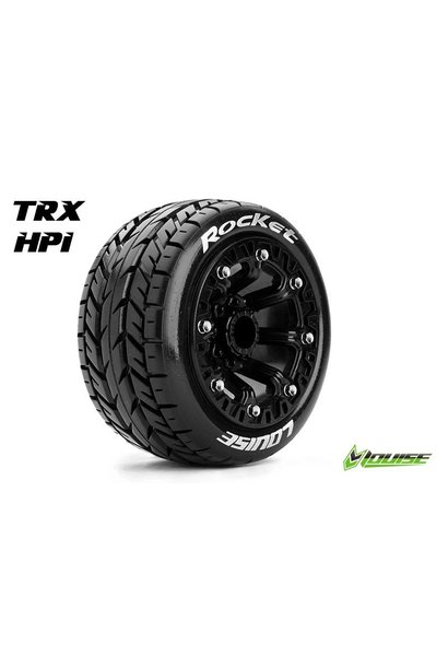 Louise RC - ST-ROCKET - 1-16 Truck Tire Set - Mounted - Sport - Black 2.2 Rims - Hex 12mm - L-T3188SB