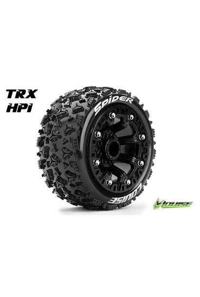 Louise RC - ST-SPIDER - 1-16 Truck Tire Set - Mounted - Sport - Black 2.2 Rims - Hex 12mm - L-T3200SB