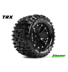 Louise RC Louise RC - MT-PIONEER - 1-10 Monster Truck Tire Set - Mounted - Sport - Black 2.8 Rims - 0-Offset - Hex 12mm - L-T3202SB
