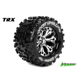 Louise RC Louise RC - MT-UPHILL - 1-10 Monster Truck Tire Set - Mounted - Sport - Chrome 2.8 Rims - BB - L-T3204SCB