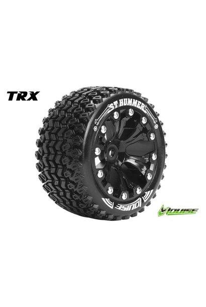 Louise RC - ST-HUMMER - 1-10 Stadium Truck Tire Set - Mounted - Sport - Black 2.8 Rims - 0-Offset - Hex 12mm - L-T3209SB