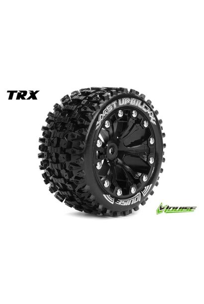 Louise RC - ST-UPHILL - 1-10 Stadium Truck Tire Set - Mounted - Sport - Black 2.8 Rims - 0-Offset - Hex 12mm - L-T3211SB