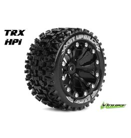 Louise RC Louise RC - ST-UPHILL - 1-10 Stadium Truck Tire Set - Mounted - Sport - Black 2.8 Rims - 1/2-Offset - Hex 12mm - L-T3211SBH