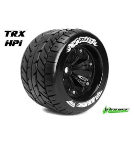 Louise RC Louise RC - MT-ROCKET - 1-8 Monster Truck Tire Set - Mounted - Sport - Black 3.8 Rims - 0-Offset - Hex 17mm - L-T3217B