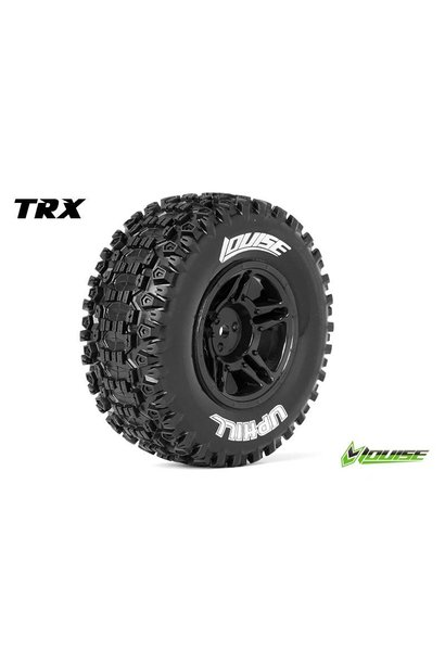 Louise RC - SC-UPHILL - 1-10 Short Course Tire Set - Mounted - Soft - Black Rims - Hex 12mm - SLASH 2WD - Front - L-T3223SBTF