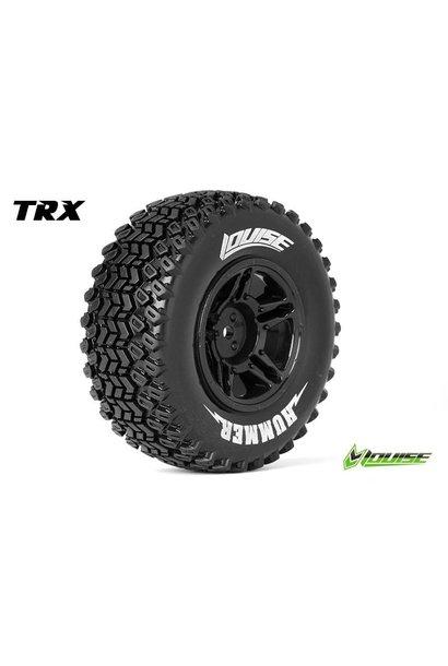 Louise RC - SC-HUMMER - 1-10 Short Course Tire Set - Mounted - Soft - Black Rims - Hex 12mm - SLASH 2WD Rear - SLASH 4X4 F/R - L-T3224SBTR
